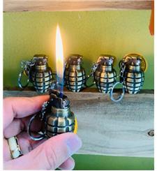 Bật lửa lựa đạn mini  khiêm móc khóa