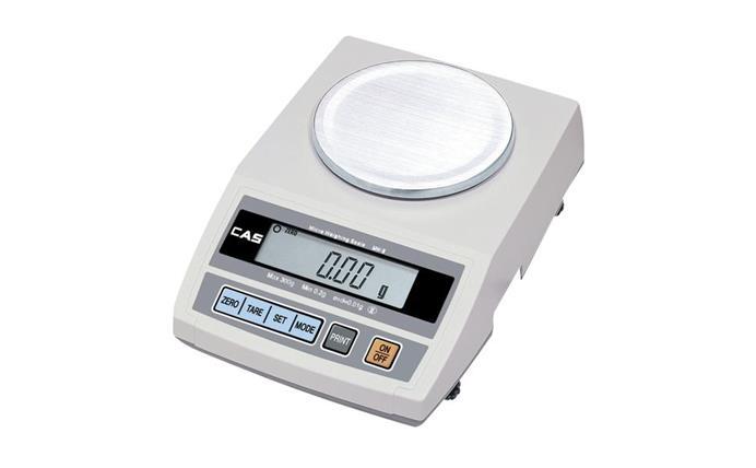 Cân điện tử tiểu ly Cas MW-II-3000 (3000g/ 0.1g), can dien tu tieu ly cas mwii3000 3000g 01g