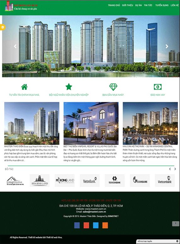 Giao diện web bất động sản