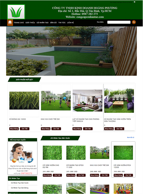 Giao diện web cỏ nhân tạo