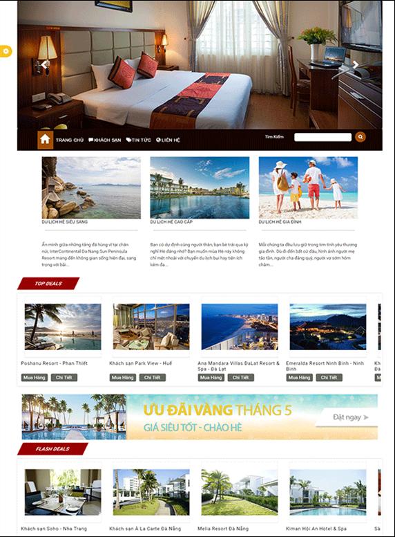 Giao diện web khách sạn