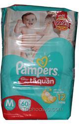 Tả quần Pampers sizeM 60 miếng