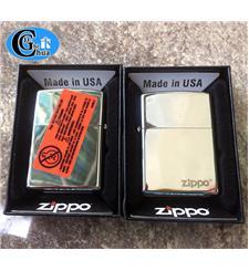Zippo USA trơn có tem đỏ