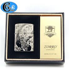 Zippo Zorro hình hoa văn (mẫu đẹp) -Hãng Zorro